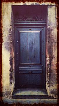Oude zijdeur aan achterkant koninklijk paleis Brussel, België van Deborah Blanc