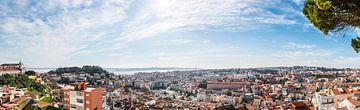 paysage urbain de Lisbonne sur Erik Wardekker