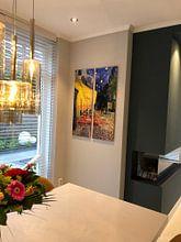 Kundenfoto: Caféterrasse am Abend (Vincent van Gogh) von Rebel Ontwerp, auf alu-dibond