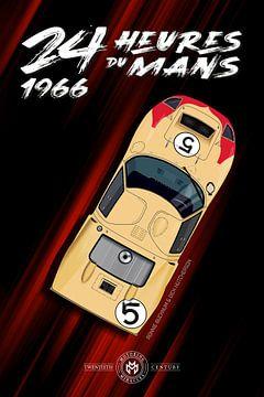 24H Le Mans 1966 Bucknum, Hutcherson, Ford GT40 von Theodor Decker
