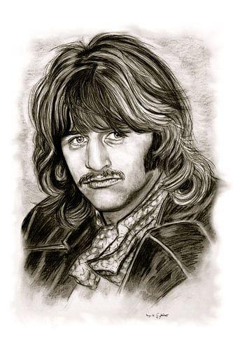 Ringo Starr In Black And White van