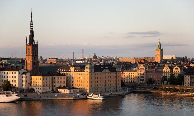 sonnenuntergang in der stadt stockholm von Karijn   Fine art Natuur en Reis Fotografie