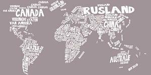 Wereldkaart typography