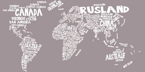 Wereldkaart typography von Stef Van Campen