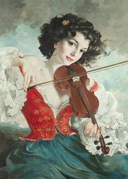 Frau Violinist von Antonije Lazovic