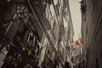 Streets of Barcelona van Marieke Balk