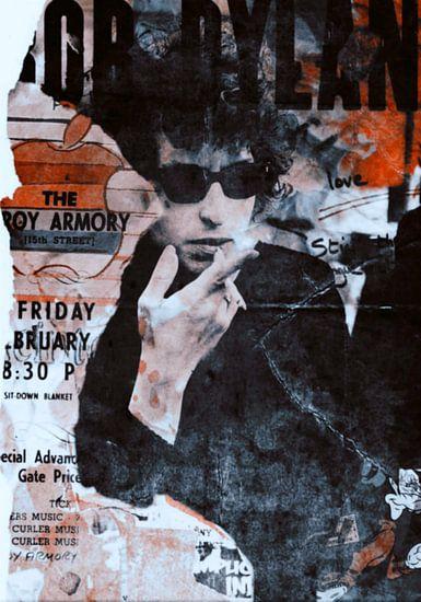 Bob Dylan - Plakative Fashion - Collage van Felix von Altersheim