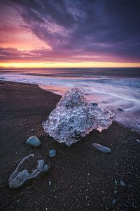 Island Diamond Beach Sonnenaufgang von Jean Claude Castor