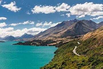 Lake Wakatipu; Queenstown, Nieuw-Zeeland van Markus Lange