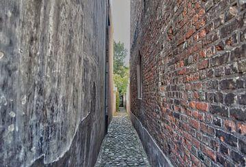 Smal straatje in Middelburg van Mariska Wondergem