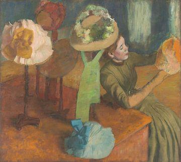 In de hoedenwinkel, Edgar Degas van Meesterlijcke Meesters