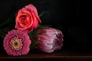 Bloemen in baroque stijl van Marion Moerland