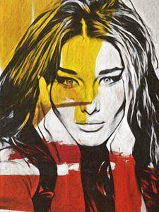 Carla Bruni - Modern Art