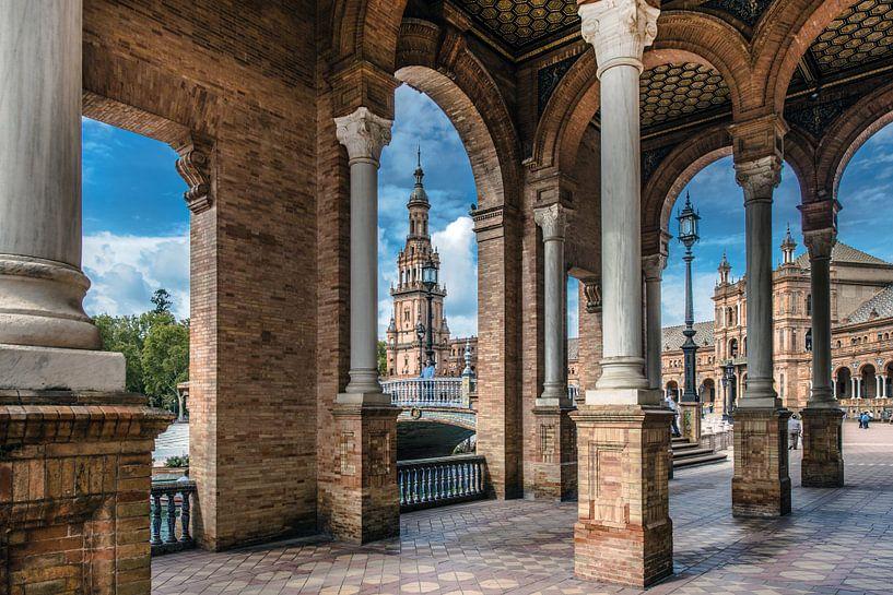 Sevilla, Plaza de Espagne van Harrie Muis