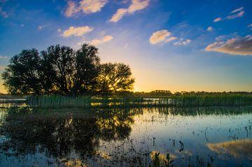 Sunset Hurwenense Kil van Eric van Schaijk