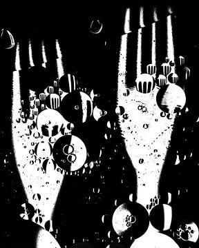 fourches! fond noir (noir et blanc) sur Marjolijn van den Berg