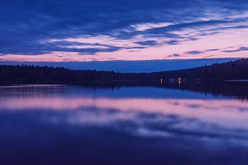 Sonnenuntergang bei der Greifenbach Stauweiher von Bertram Bergink