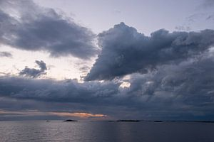 Wolkenlucht boven de Atlantische Route