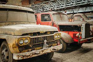 Verlassene Feuerwehrautos von Bjorn Renskers