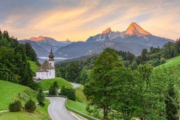 Maria Gern und Watzmann in Berchtesgaden von Michael Valjak