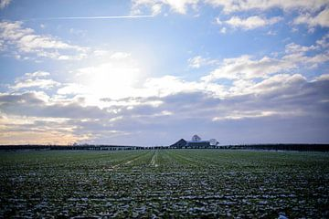 Eenzame boerderij op de top van de heuvel van Arne Pyferoen