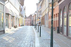 dorpsstraatje in Viborg denemarken in de zomer van 2015