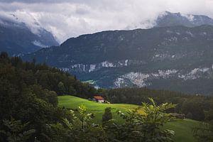 Huisje in de bergen van