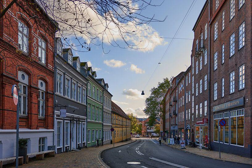 Straat in Odense van Marieke de Jong