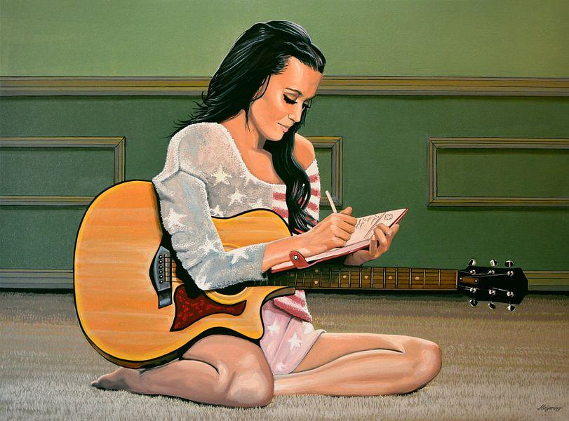 Katy perry schilderij van paul meijering op canvas behang en meer