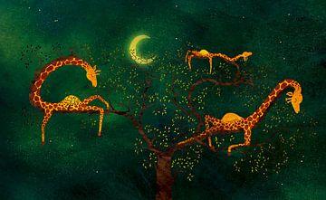 Der Giraffenbaum sur Saskia van Gelderen