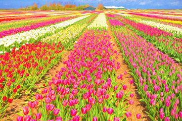 Kleurrijke bloembollenvelden van eric van der eijk