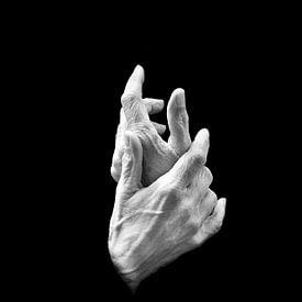 Handen abstract in zwart wit van Marianne van der Zee