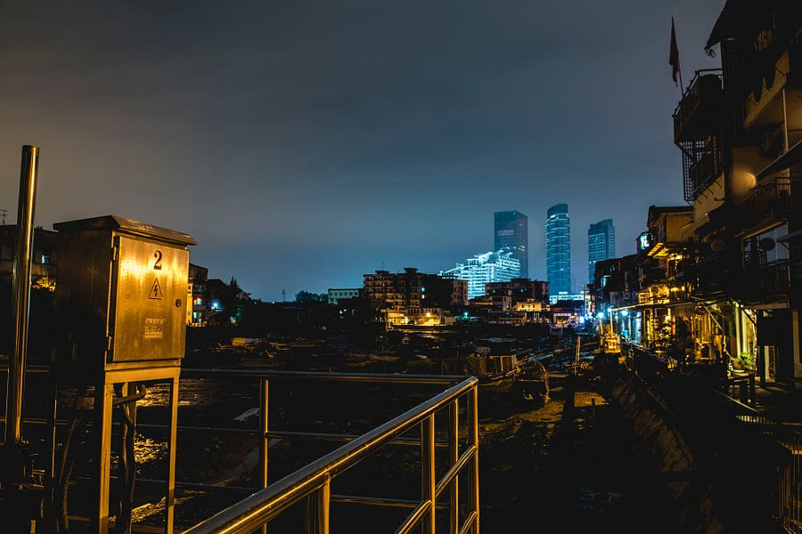 Xiamen bij nacht van Stephan de Haas