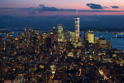 Blick auf das One World Trade Center van Kurt Krause