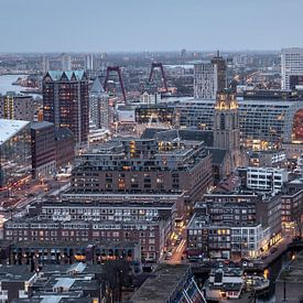 Skyline van Rotterdam van Ivo de Bruijn