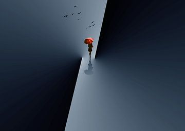 Rode paraplu, Ivan Huang van 1x