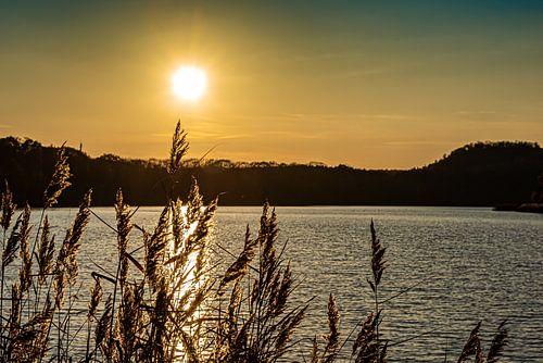 Zonsondergang bij Maasmechelen