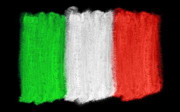 Symbolische nationale vlag van Italië van Achim Prill