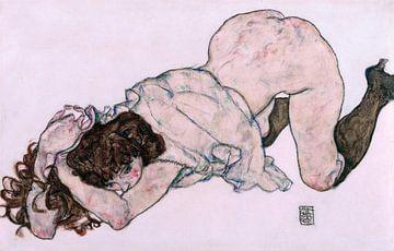 Egon Schiele. Kniendes Mädchen