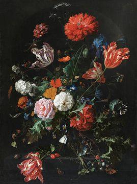 Bloemen in een glazen vaas, Jan Davidz de Heem