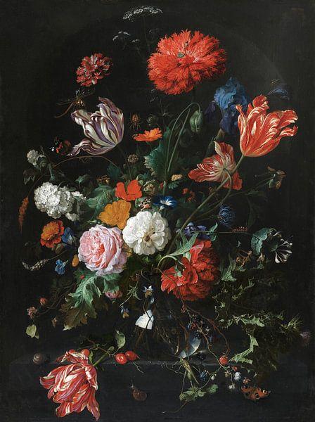 Blumen in einer Glasvase, Jan Davidsz de Heem von Bridgeman Masters