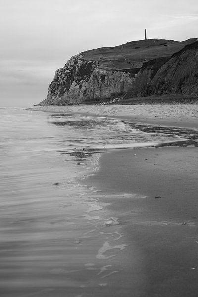 het strand van Escalles - Cap Blanc Nez - France van Krist Hooghe