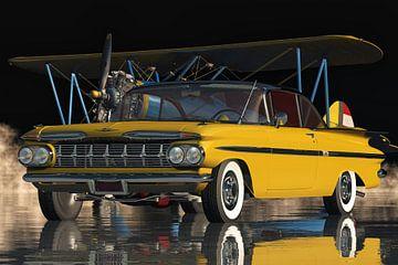 Chevrolet Impala uit 1959 Een echte klassieke familie auto van Jan Keteleer