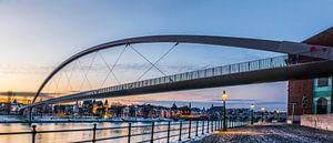 Panorama van de Hoge brug in Maastricht