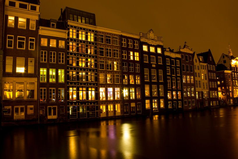 Amsterdam grachtenhuizen van Ahilya Elbers