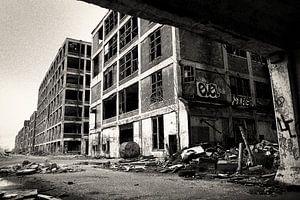 Oude fabriek in Detroit