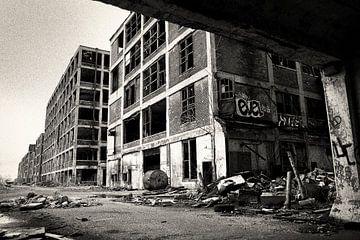 Oude fabriek in Detroit van Arthur van Iterson