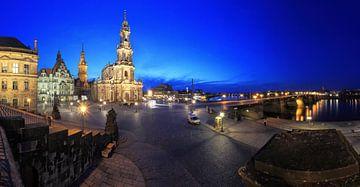 Le ciel de Dresde à l'heure bleue sur Frank Herrmann