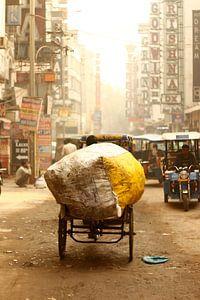 In de straten van New Delhi van