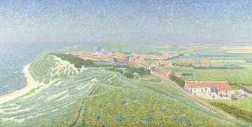 Blick auf das Dorf Zoutelande auf Walcheren - Ferdinand Hart Nibbrig
